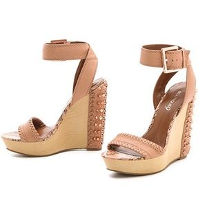 Boutique 9 Gwendolyn Studded Wedge Sandals